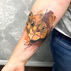 These Are The Most Popular Disney Tattoos In The World Dad Tattoos, Cute Tattoos, Tattoos For Guys, Manga Tattoo, Doodle Tattoo, Disney Sleeve Tattoos, Disney Tattoos, Tattoo Ohana, Disney Inspired Tattoos