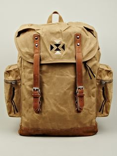 Eastpak x Wood Wood Vidal Backpack in beige at oki-ni