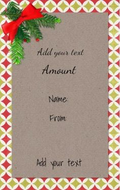 Gift Voucher Template Free Download Christmas Gift Certificate Templates That Can Be Customized For Free .