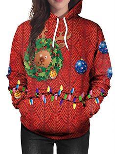 Cathalem Womens T Shirt Round Collar Long Sleeve Rendering Printing Hatless Tops Pullover Sweatshirt