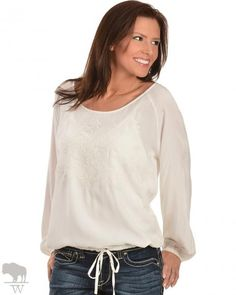 Women's Venda Challis Embroidered Top by Ariat
