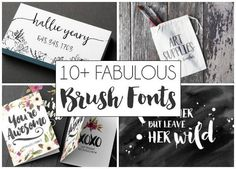 10 Fab Brush Calligraphy Fonts. I've hand picked ten of my very favorite Brush Calligraphy fonts! Which one is your favorite?