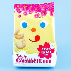 Tohato Caramel Corn - Sakura Milk Japanese Sweet, Japanese Candy, How To Make Jelly, Making Jelly, Jelly Cookies, Shortbread Cookies, Corn Puffs, Kawaii Cooking, Bubble Milk Tea