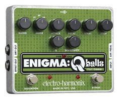 Electro-Harmonix Enigma Q Balls Envelope Filter Pedal - Wrap your bass sound in an Enigma. This powerful envelope filter effect gives you tight control from 40 Hz to 3 kHz -- plus analog distortion for extra bite.