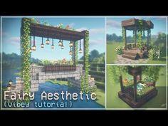 Minecraft: Fairy Aesthetic Builds 🍄🌿✨ Fairytail Cottagecore Fairycore Fairy Tale 🌸 Kelpie The Fox - YouTube Minecraft Fountain, Minecraft Garden, Minecraft House Plans, Minecraft Cottage, Minecraft House Tutorials, Cute Minecraft Houses, Minecraft Funny, Minecraft Blueprints, Minecraft Creations
