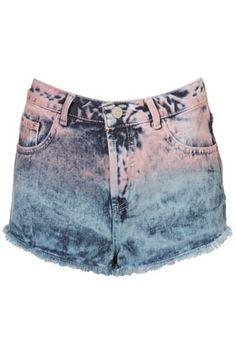 moto dip dyed shorts