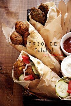 Trío de falafels. @Food&Chic
