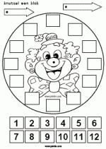 Clowsklok maken - Hoe laat begint de voorstelling? Preschool Worksheets, Preschool Activities, Clown Crafts, Fitness Gifts, Happy Socks, Teaching Math, Something To Do, Coloring Pages, Mandala