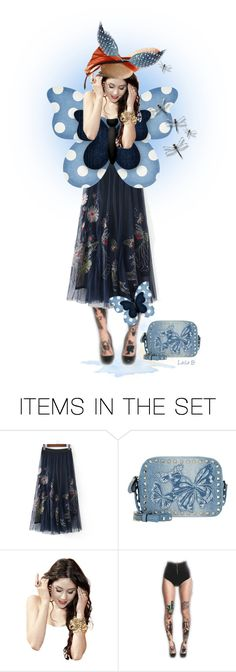 """""""Blue Butterfly Doll"""" by laila-bergan ❤ liked on Polyvore featuring art"""