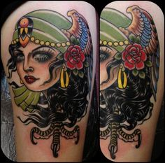 Rose Hardy is a painter and tattoo artist working at Kings Avenue Tattoo in New York City. Pin Up Tattoos, Rose Tattoos, Awesome Tattoos, Tattoo Motive, I Tattoo, Traditional Gypsy Tattoos, Rose Hardy, Old School Ink, Brides With Tattoos