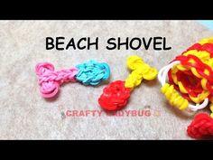 Rainbow Loom 3D BEACH SPADE/SHOVEL Charm (easy). Designed and loomed by Crafty Ladybug. Click photo for YouTube tutorial. 08/18/14.