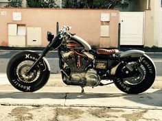Harley Davidson sportster 1991 bobber #harleydavidsonsportsternightster #harleydavidsoncaferacer