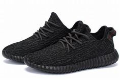 The second colorway of the adidas Yeezy 350 Boost is dressed in a full Black color scheme. Built with adidas Primeknit through the one-piece upper that includes canvas detailing on the heel tab. Other details include a Black leather circle with the YZY imprint, all sitting atop a Boost cushioning that provides for a comfortable ride. Product Name: Yeezy Boost 350 Brand: Adidas Colorway: Color: Pirate Black/Pirate Black-Pirate Black Nickname: Pirate Black
