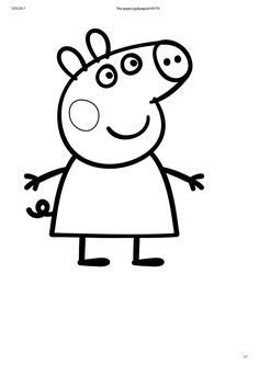 Pappa pig party favur colouring in