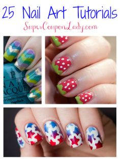 25 Nail Art Tutorials - Super Coupon Lady (Best Jewelry Collections at www.brilliance.com)