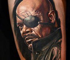 Samuel L Jackson as Nick Fury from Avengers by Nikko Hurtado