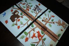 Set of 4 Woodland Friends Forest Animals on by LittleMonkeyDoodles, $80.00