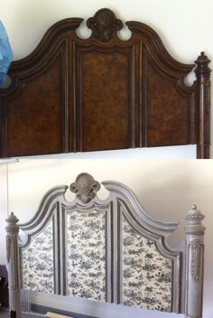 Headboard Refinished w/ Mod Podge. 6 Mod Podge Projects That Willl Wow You. Decoupage Furniture, Refurbished Furniture, Repurposed Furniture, Furniture Projects, Furniture Making, Painted Furniture, Diy Furniture, Bedroom Furniture, Decoupage Ideas