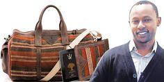 Jeffrey Kimathi with his Buyu travel collection
