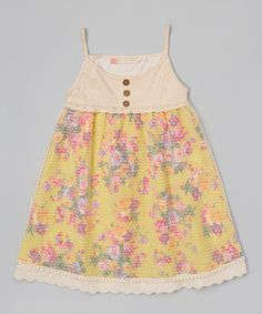 Look what I found on #zulily! Yellow Emma Dress - Toddler & Girls by Free Planet #zulilyfinds