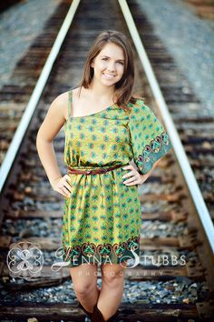 Railroad track pose #senior #pose