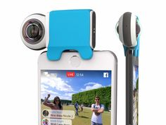 The Giroptic iO is a 360-degree camera, compatible with smartphones and tablets (iOS). Shoot and share with ease your 360-degree photos and videos.