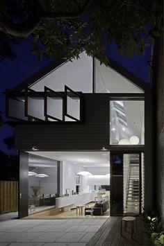 Inside, outside. Elliott Ripper House. Christopher Polly Architect