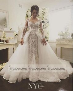I found some amazing stuff, open it to learn more! Don't wait:http://m.dhgate.com/product/detachable-skirt-long-sleeve-mermaid-wedding/260661773.html