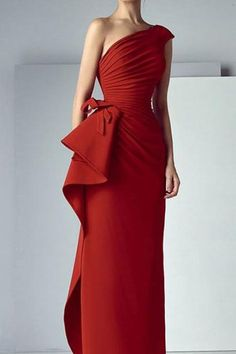 Red Prom Dress One Shoulder Party Dress Mermaid Evening Dress High Waist Formal Dress Pretty Evening Dress Mermaid Evening Dresses, Prom Dresses, Bride Dresses, Formal Dresses, Wedding Dresses, One Shoulder Prom Dress, Elegant Wedding Dress, Dress First, Mother Of The Bride