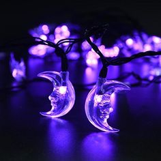 LuckLED Original Moon Solar String Lights, 20ft 30 LED Christmas Lights with Light Sensor for Outdoor, Gardens, Homes, Wedding, Christmas Party and Holiday Decor(Purple), http://www.amazon.com/dp/B00VX7H7DC/ref=cm_sw_r_pi_awdm_NfYCwb0VTQ9FR