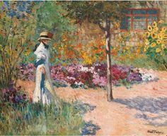 Элегантность в саду ABEL-TRUCHET, Louis French детали работы на Art Gallery Encyclopedia на Русском