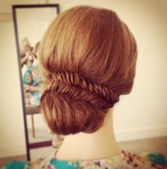 Fishtail braid I bridal updo I wedding hair I trends