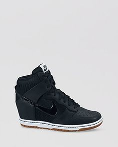 Nike Lace Up High Top Sneaker Wedges- Womens Dunk Sky Hi Mesh | Bloomingdales