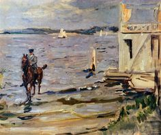 Bathing House Havel by Max Slevogt. Impressionism. landscape