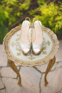 Gilded loubies | Photography: Maria Longhi Photography - marialonghi.com  Read More: http://www.stylemepretty.com/california-weddings/2014/05/01/majestic-fairytale-wedding-inspiration/