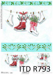 Zimowo-świąteczne zabawy na powietrzu.. - Papier ryżowy ITD Collection