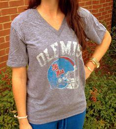 Ole Miss Powder Blue Helmet Vintage T-Shirt