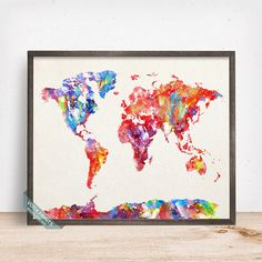 World map stencil plastic reusable painting art supply wall world map print watercolor world map world map by vocaprints gumiabroncs Images