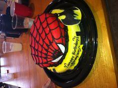 Braylon's Spider-Man/batman cake