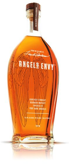 Angel's Envy creates artisan, award-winning premium whiskey, finishing our Kentucky Straight bourbon in port wine casks & blending it in small batches of 8 to 12 barrels at a time. Tequila, Vodka, Good Whiskey, Scotch Whiskey, Bourbon Whiskey, Sweet Bourbon, Alcohol Bottles, Liquor Bottles, Sangria