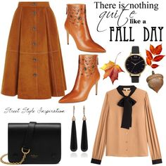 Fall is in the Air by hastypudding on Polyvore featuring Michael Kors, Nine West, Mulberry, Olivia Burton, SUSAN FOSTER, fashionset, Fall2016 and AmiciMei