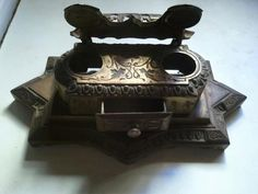 Antique Brass Inkwell by Susannj30 on Etsy, $50.00