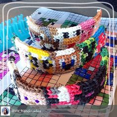 Cool  Alpha Loom Minecraft Bracelet by @Iris_handmades #AlphaLoom #Minecraft