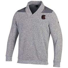 Mens South Carolina Gamecocks Under Armour Gray Win It Sweater