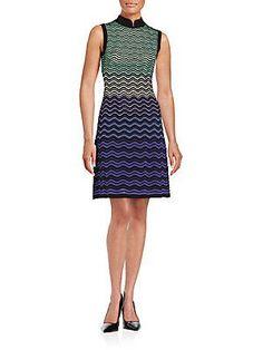 M Missoni Sleeveless Wave Dress -