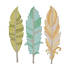10 Ultimate Crafts die cuts DRIFTING FEATHER