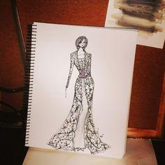Kebaya Kutubaru by Adzani A. Ameridyani // sketch / fashion design /indonesia / javanese
