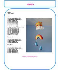 Entre lanas e hilos: MOVIL PARA CUNA A CROCHET Crochet Keychain Pattern, Crochet Mandala Pattern, Crochet Bookmarks, Crochet Patterns Amigurumi, Crochet Dolls, Bead Crochet Rope, Crochet Stars, Cute Crochet, Crochet Flowers