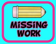 Missing work - FREE printable