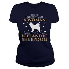 Icelandic Sheepdog T Shirts, Hoodies. Get it now ==► https://www.sunfrog.com/LifeStyle/Icelandic-Sheepdog-126191768-Navy-Blue-Ladies.html?57074 $23